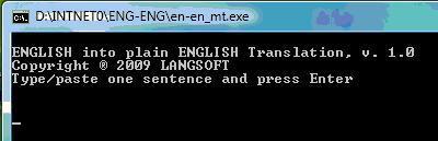 English into plain English Translation